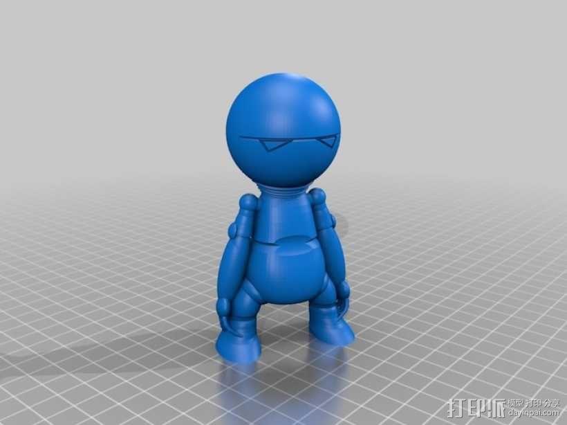 忧郁的马文机器人 3D模型  图1