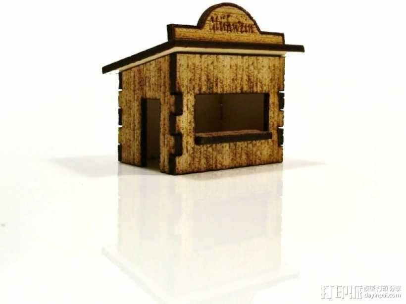 激光切割圣诞小屋 3D模型  图2