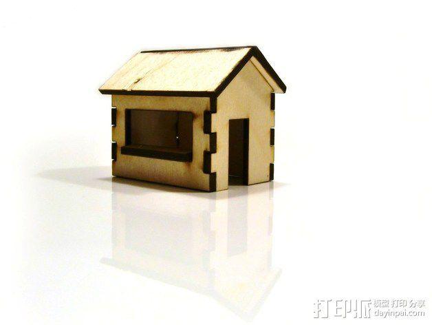 激光切割圣诞小屋 3D模型  图4