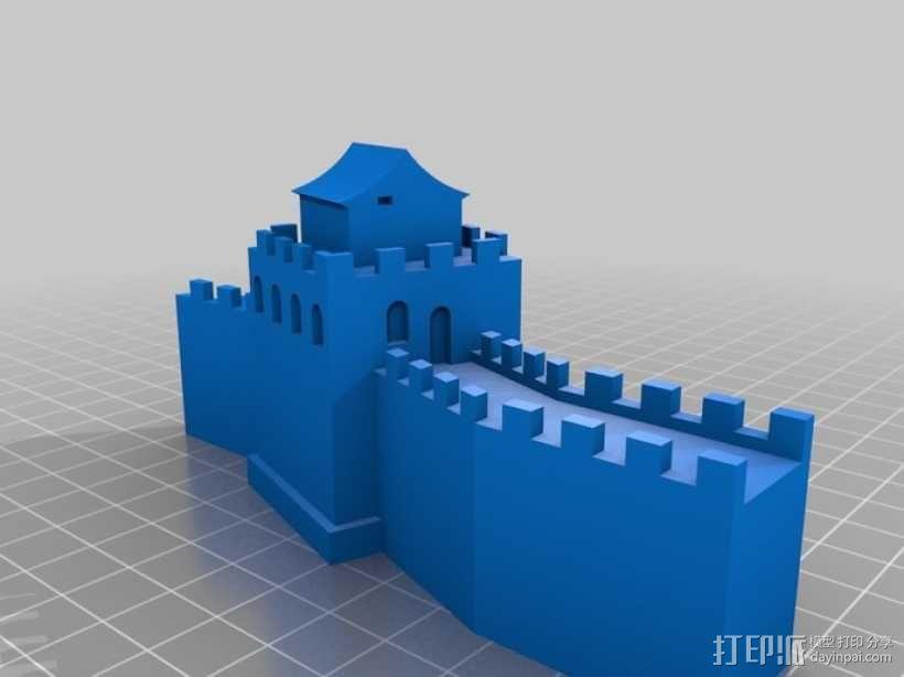 中国的长城 3D模型  图1