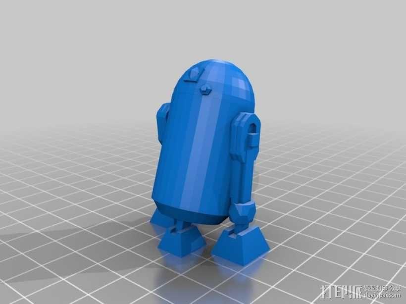星球大战R2-D2机器人 3D模型  图1