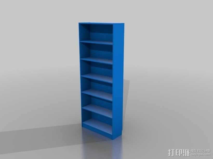 比利书柜 书橱 3D模型  图1