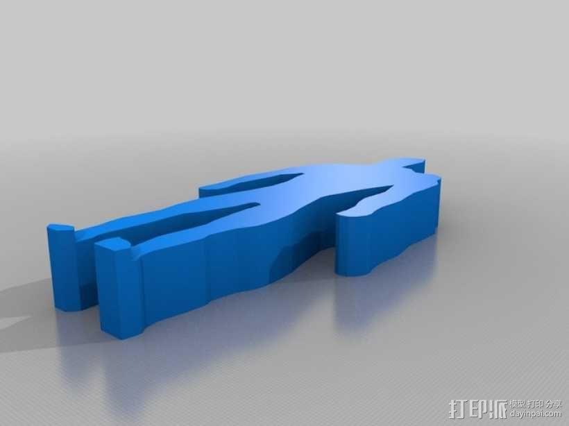 人形轮廓模型 3D模型  图1