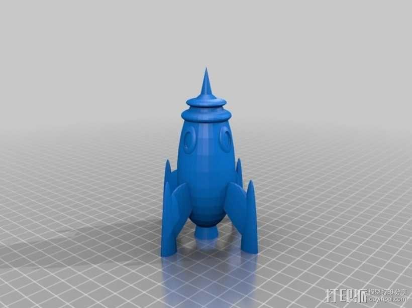 火箭 太空飞船 3D模型  图1