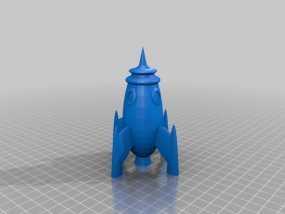 火箭 太空飞船 3D模型