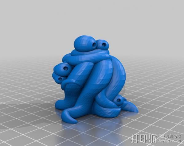 Yog-Soggoth克苏鲁神话 3D模型  图2