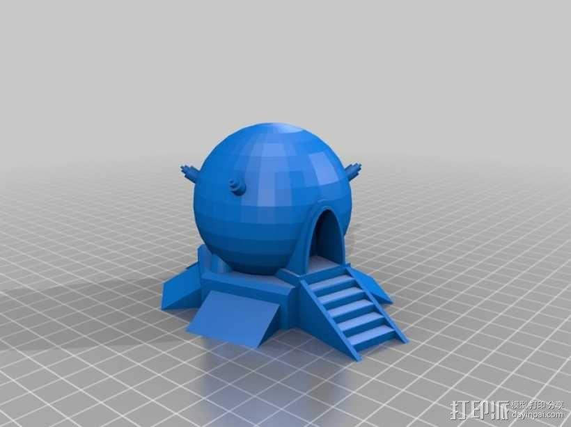球形建筑 时光机  3D模型  图1