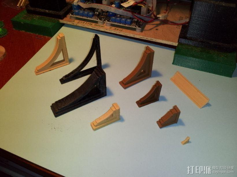 梁托 托臂 建筑支撑 3D模型  图1