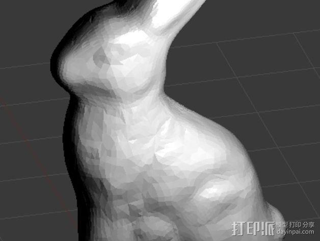 巧克力兔子 3D模型  图2