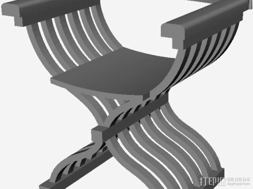 中世纪椅子 3D模型  图1