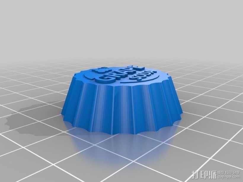 葡萄味苏打水瓶盖 3D模型  图3