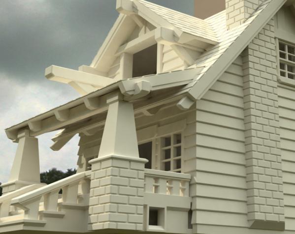 漂亮鸟笼房子 3D模型  图9
