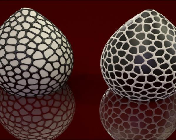 恐龙蛋灯罩 3D模型  图1