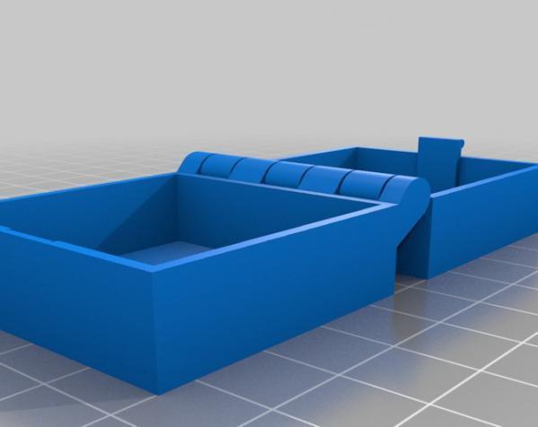带锁的铰链盒 3D模型  图2