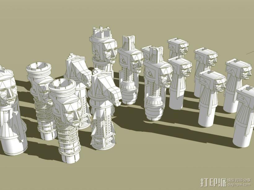 国际象棋 3D模型  图4