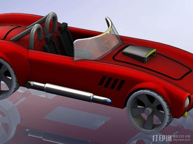 1967年款Shelby Cobra眼镜蛇跑车 3D模型  图1