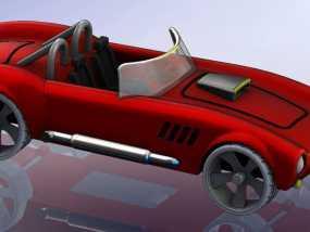 1967年款Shelby Cobra眼镜蛇跑车 3D模型