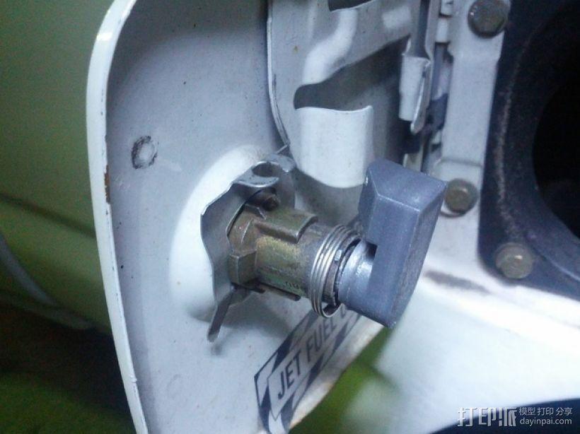 丰田加油门锁 3D模型  图3