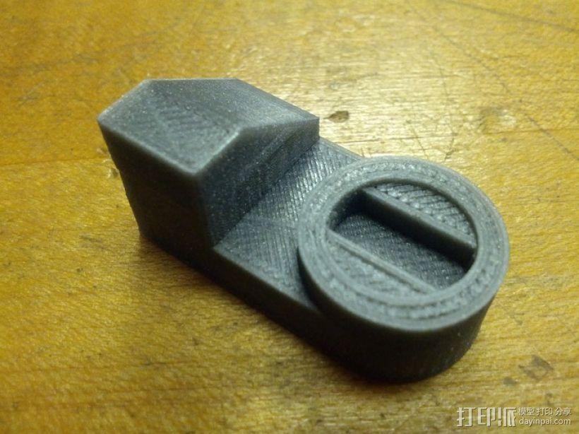 丰田加油门锁 3D模型  图2