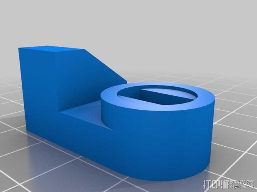 丰田加油门锁 3D模型  图4