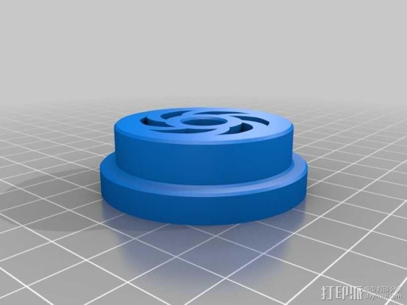 卷盘轴 3D模型  图1