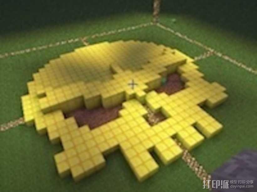 骷髅头工艺品 3D模型  图1