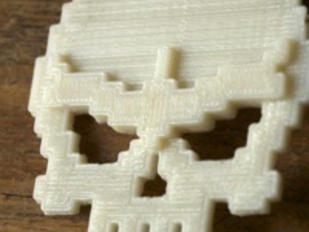 骷髅头工艺品 3D模型  图2