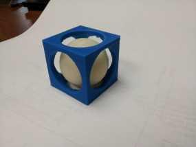 立方体 小球 3D模型