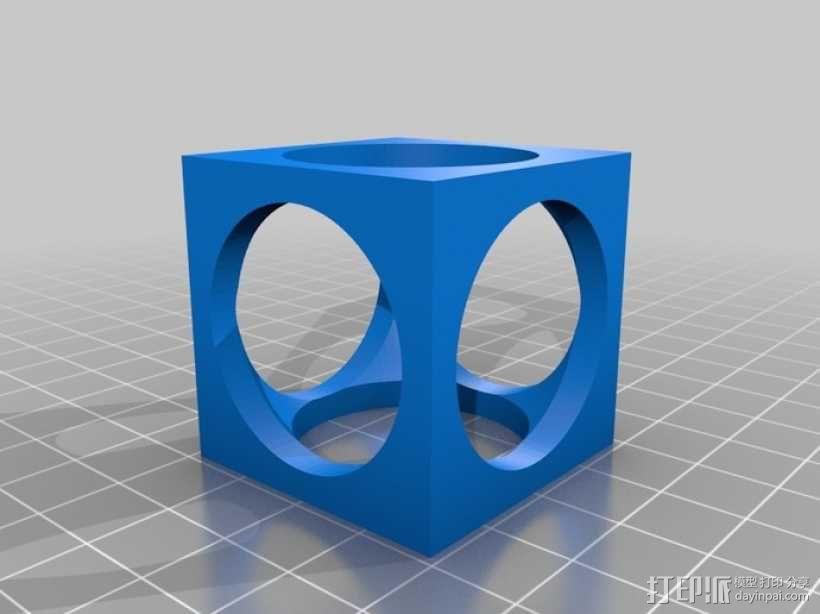 立方体 小球 3D模型  图3