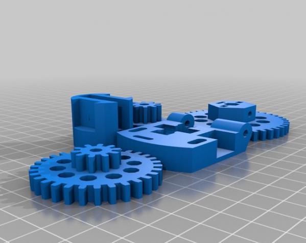 3D打印机通用膏糊挤压机 3D模型  图2