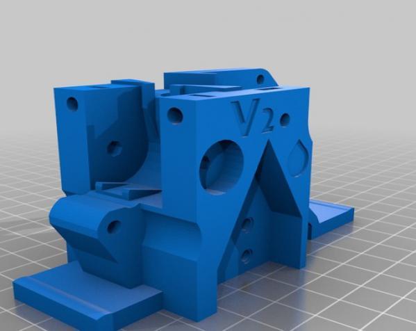 3D打印机通用膏糊挤压机 3D模型  图3