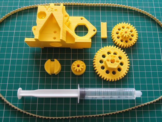 3D打印机通用膏糊挤压机 3D模型  图6