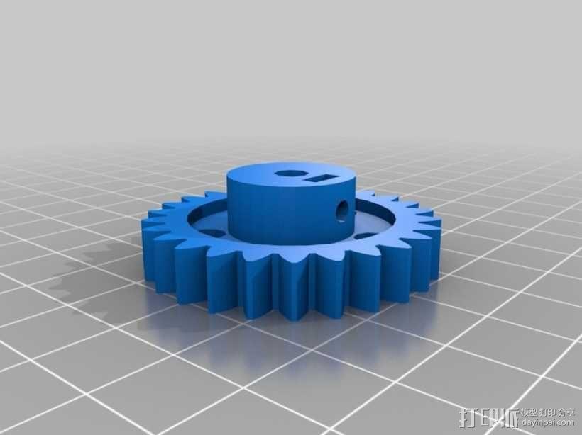 打印机Y轴框架 3D模型  图5