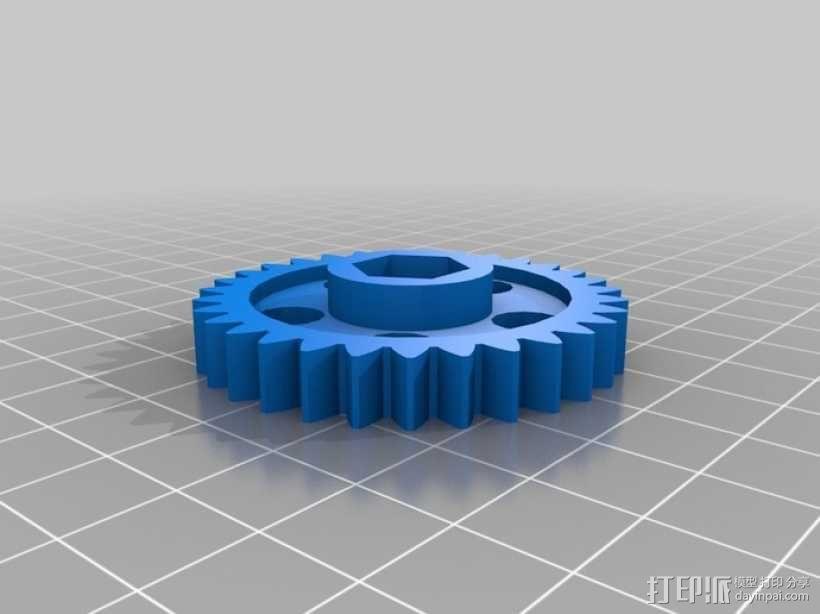 打印机Y轴框架 3D模型  图10