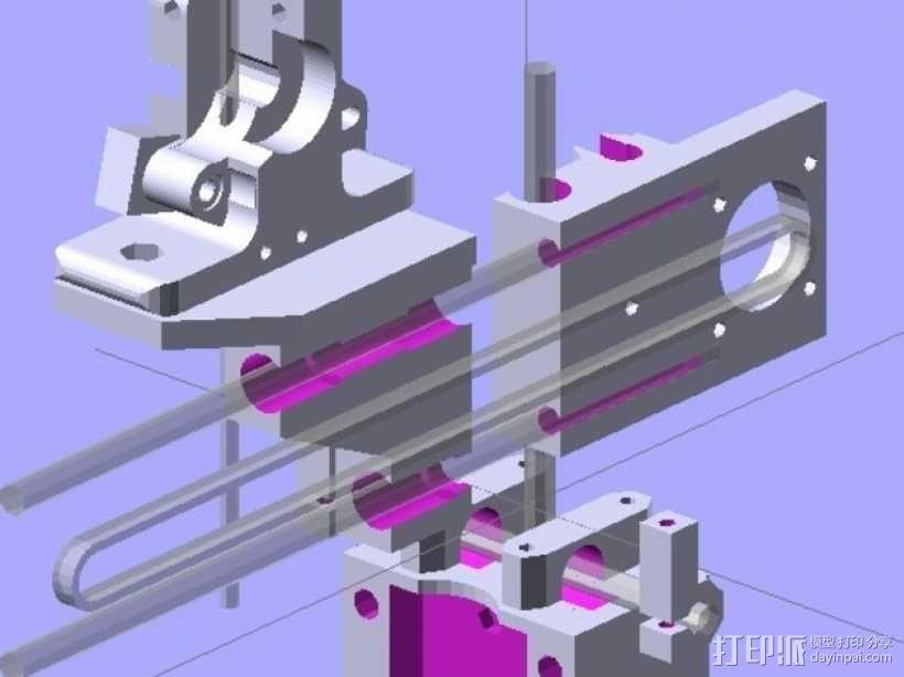 参数化Reprap打印机 3D模型  图1