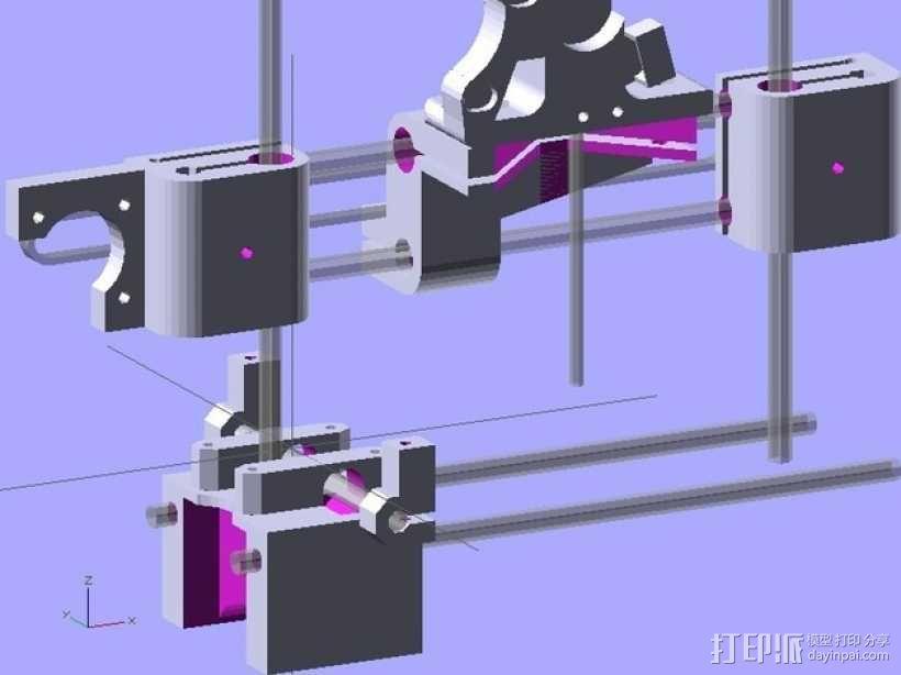 参数化Reprap打印机 3D模型  图6