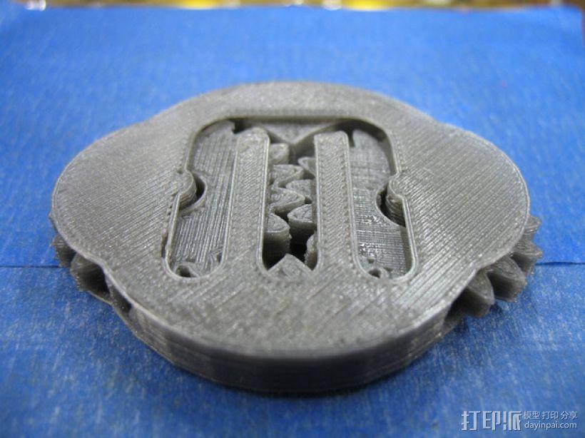 可分解的齿轮箱 3D模型  图1