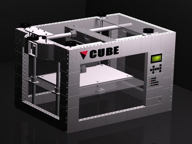 CUBE  3D打印机 3D模型  图5