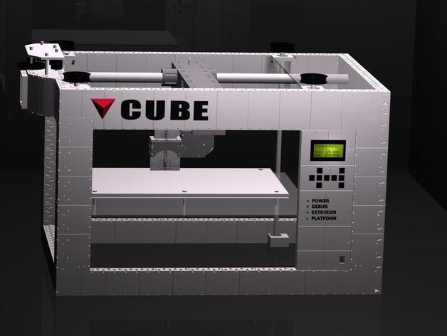 CUBE  3D打印机 3D模型  图6