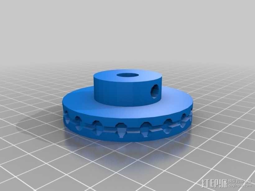 轴承滑轮 3D模型  图3