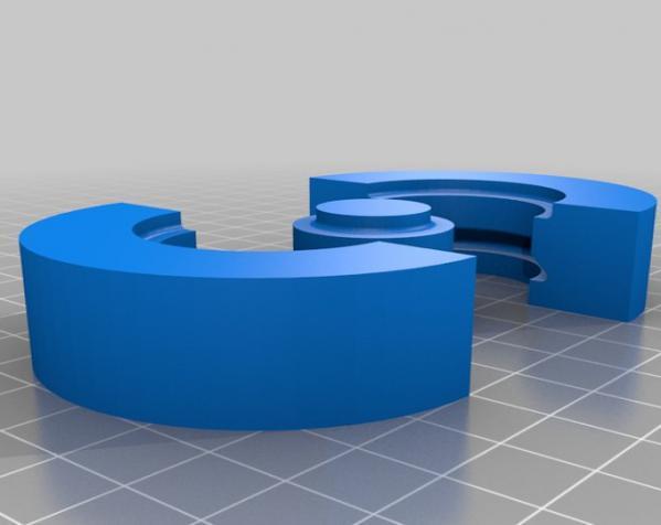 608号皮带轮模具 3D模型  图2