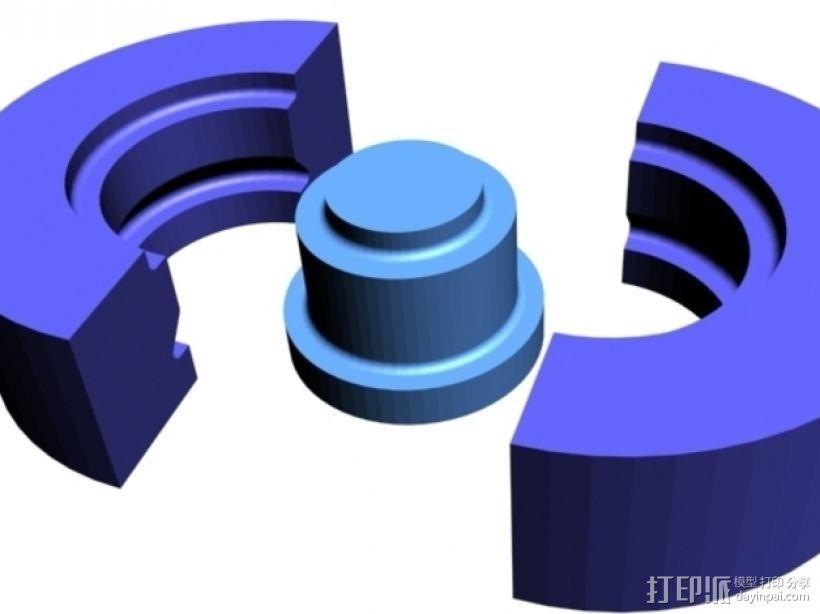 608号皮带轮模具 3D模型  图1