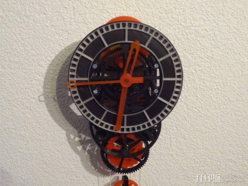 机械钟 3D模型  图1