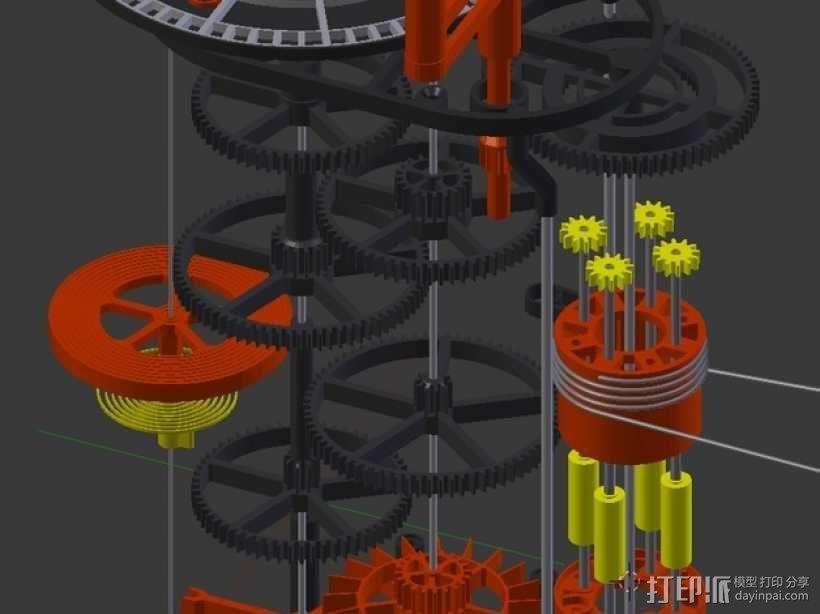 机械钟 3D模型  图4