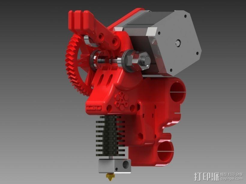 齿轮驱动挤出机 3D模型  图1