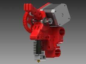 齿轮驱动挤出机 3D模型