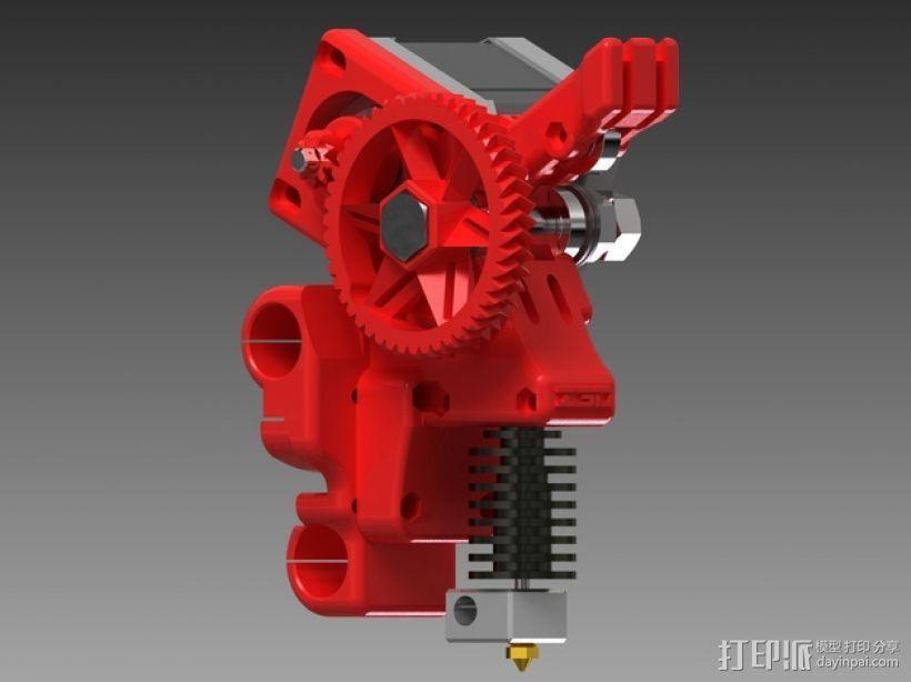 齿轮驱动挤出机 3D模型  图2