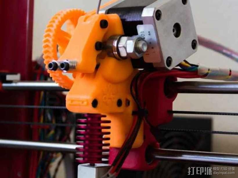 齿轮驱动挤出机 3D模型  图4