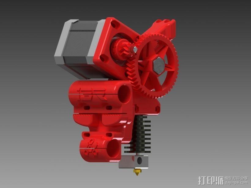 齿轮驱动挤出机 3D模型  图3