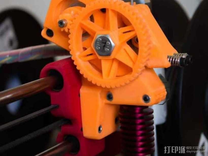 齿轮驱动挤出机 3D模型  图5